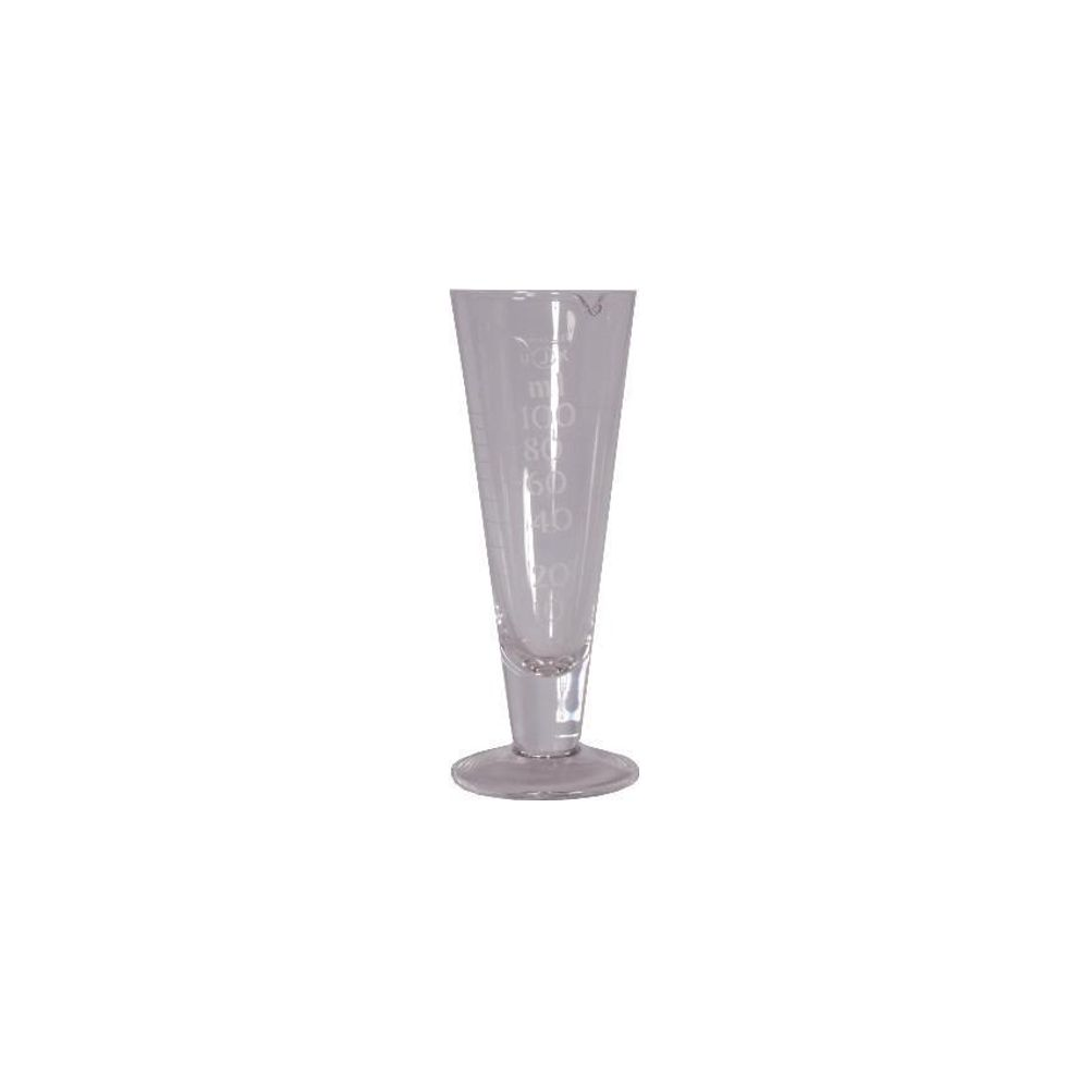 100ml Conical Glass Measure (MEA100) Government Stamped