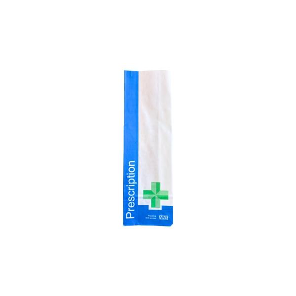 1000 x Paper NHS Prescription Bag (279 x 89 + 51mm) BAGP3