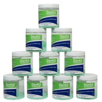 DenKit - Drug Denaturing Kit - 10 x 250ml Jars