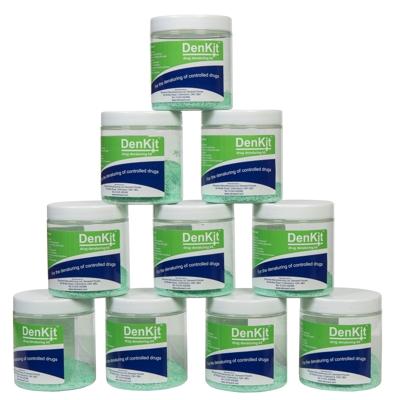 DenKit – Drug Denaturing Kit – 10 x 250ml Jars (CDK010)