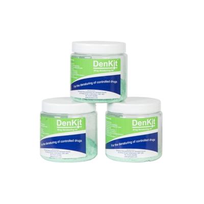DenKit – Drug Denaturing Kit – 3 x 250ml Jars (CDK250)