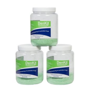 DenKit - Drug Denaturing Kit - 3 x 500ml Jars (CDK500)