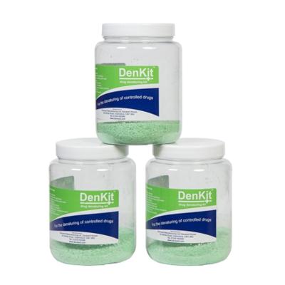 DenKit – Drug Denaturing Kit – 3 x 500ml Jars (CDK500)