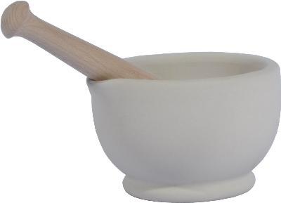 Porcelain Pestle and Mortar 13.5cm