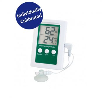 Dual Display Max/Min Digital Fridge Freezer Thermometer & Hygrometer