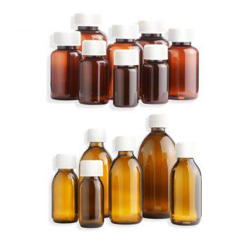Medicine Bottles (Glass and Plastic)